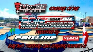 2016 IFMAR 1:8 Nitro Buggy Worlds - Tuesday Qualifying Day