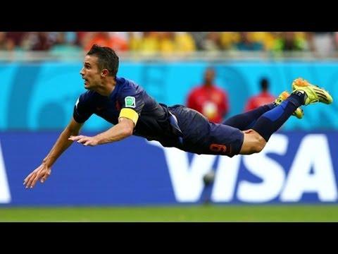Robin Van Persie Flying Head Goal - Most Amazing Goal Ever