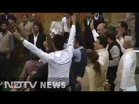 Chaos in Jammu and Kashmir assembly as opposition parties stage protest