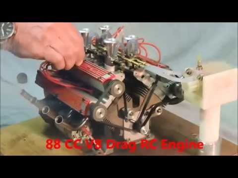 88cc V8 Engine Drag RC CAR