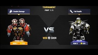 Real Steel Champions | TOURNAMENT | Twin Cities VS Golem NEW ROBOTS GAME (Живая Сталь)
