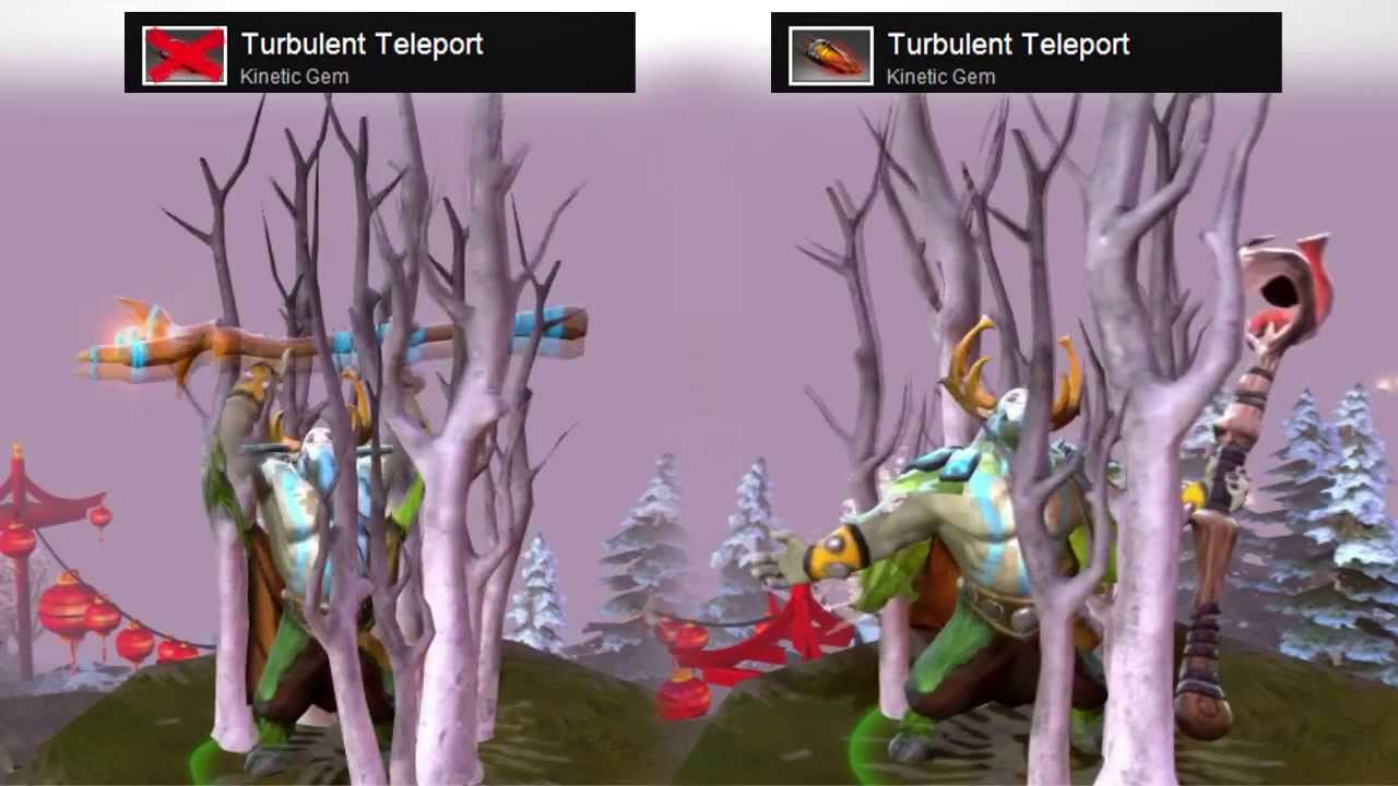Dota 2 Natures Prophet Turbulent Teleport Kinetic Gem