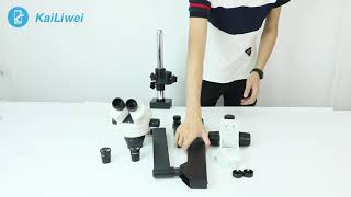 Table Clamping Pillar Stand For Stereo Zoom Binocular Microscope