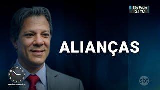 """""""Segundo turno faz bem ao eleitor e combateremos o adversário"""", diz Haddad   SBT Notícias (09/10/18)"""