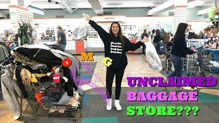 come thrifting with me at an UNCLAIMED BAGGAGE STORE!!