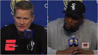 Kevin Durant disagrees with Steve Kerr's comments on playing with anger | NBA Sound