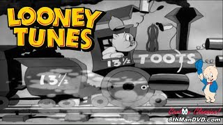 LOONEY TUNES (Looney Toons): PORKY PIG - Porky's Railroad (1937) (Remastered) (HD 1080p)