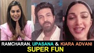 Ramcharan, Upasana and Kiara Advani Making Fun@Vinaya Videya Rama #RC12