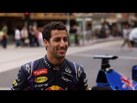 Daniel Ricciardo prepares for the 2015 Australian Grand Prix