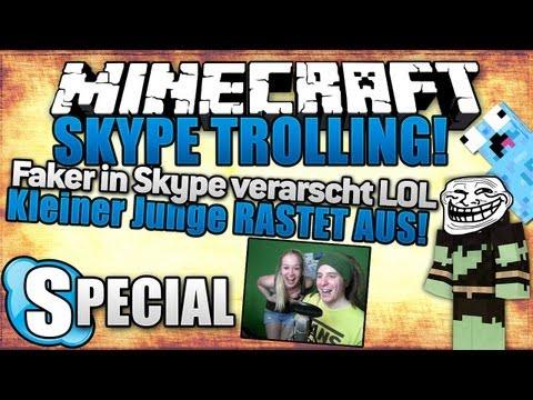 FAKER in SKYPE VERARSCHT - KLEINER JUNGE RASTET AUS! - Minecraft Skype Trolling | ungespielt