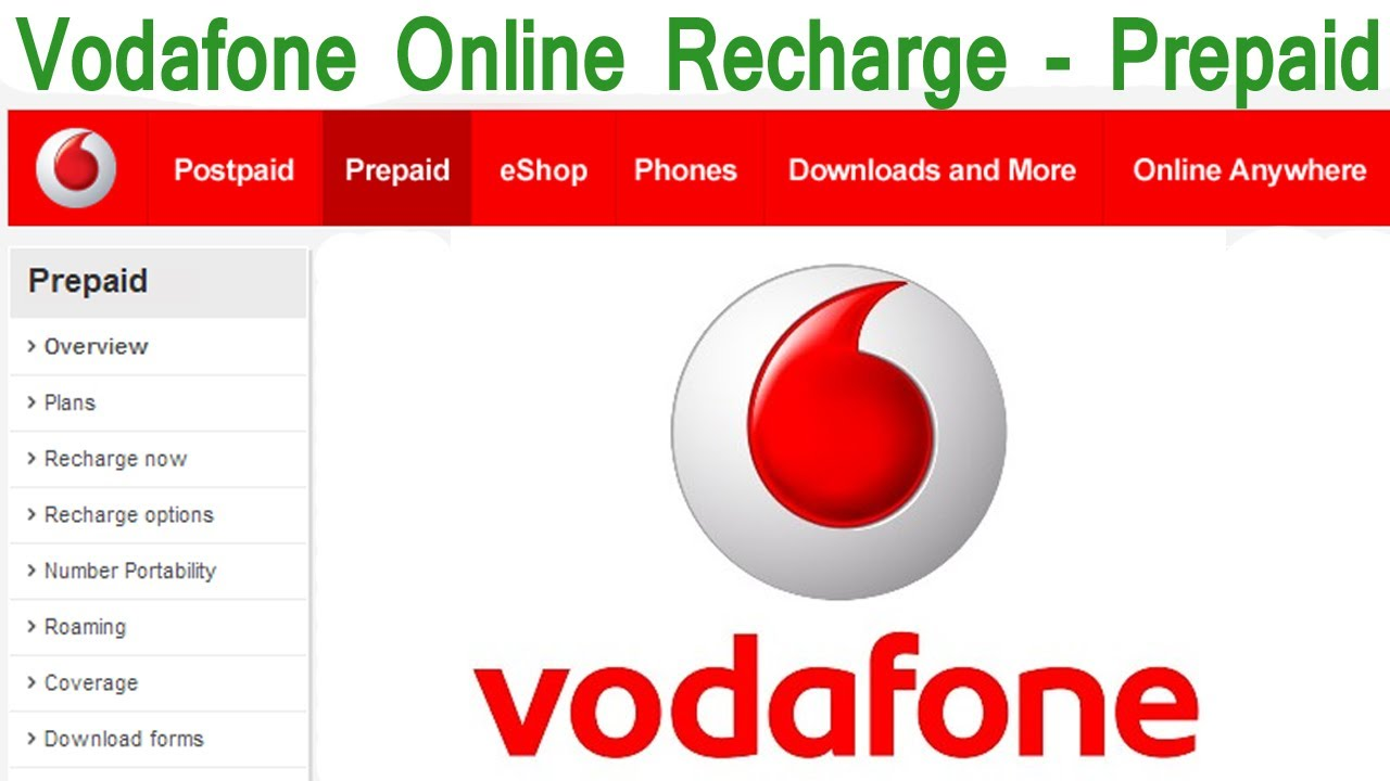 how to change vodafone postpaid plan online india