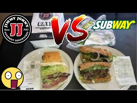 Jimmy John's VS Subway (Roast Beef Subs) Battle Review