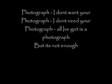 def leppard  photograph lyrics youtube