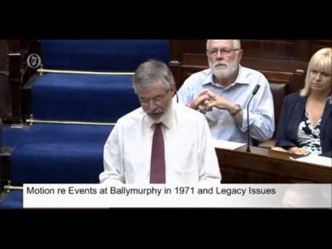 Ballymuphy Massacre - Powerful speech by Gerry Adams