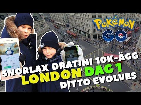 POKEMON GO i LONDON | SNORLAX, 10KM ÄGG, DRATINI, DITTO... | Crash Brothers