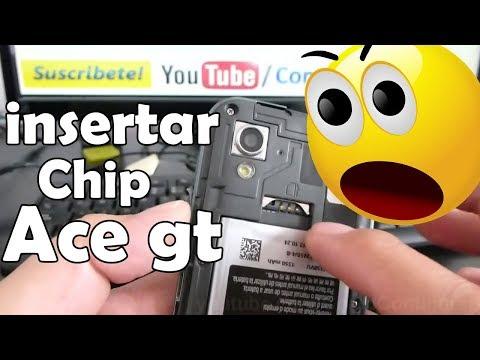 como insertar chip samsung galaxy Ace gt s5830 español Video Full HD