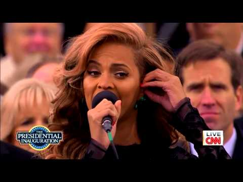 Beyonce - National Anthem - President Barack Obama Inauguration (2013)