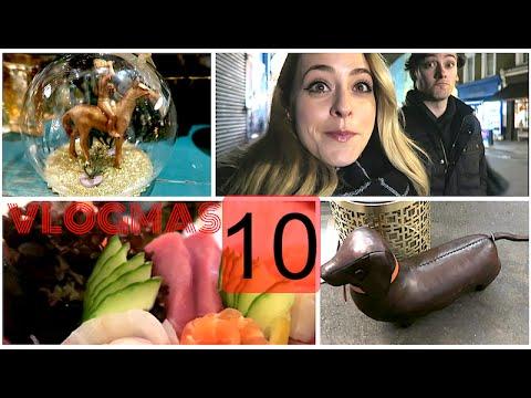 Christmas Shopping & Best Sushi in London!? Vlogmas 10