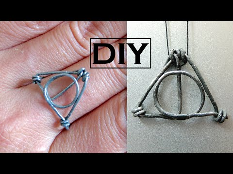 Diy harry potter ring necklace pendant wire wrapped ring youtube