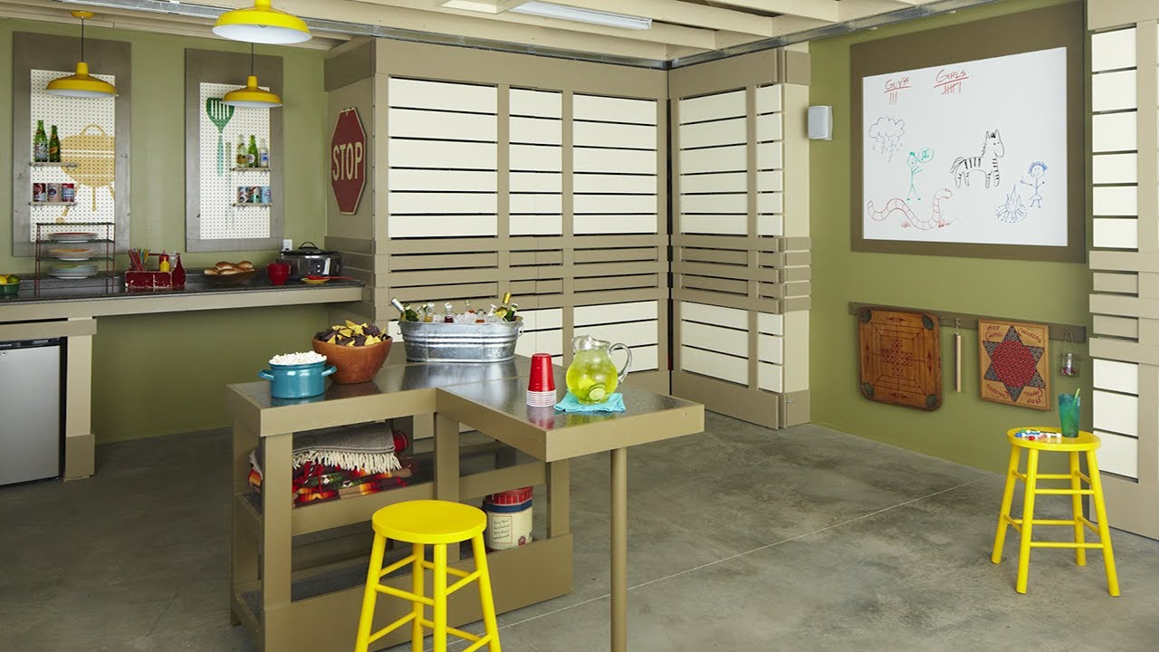 simple garage man cave ideas - The Ultimate Garage Makeover