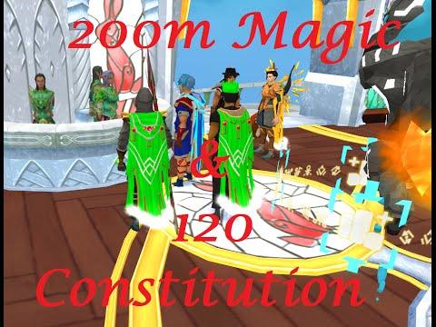 Runescape – 120 Constitution & 200M Magic Exp