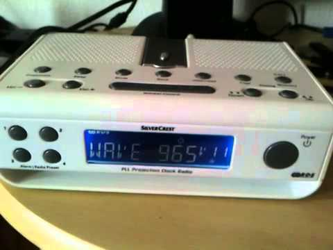 Silvercrest PLL projection Clock Radio external aerial RDS