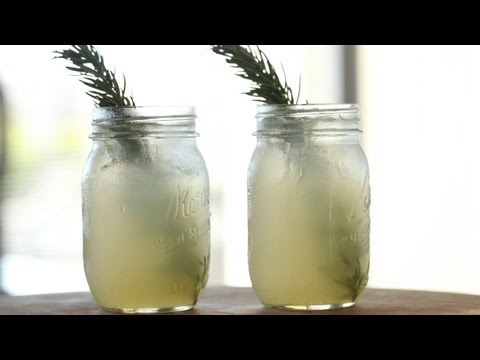 How To Make Rosemary Vodka Lemonade    KIN EATS
