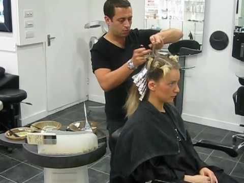 Hair makeover colour change by celebrity hairdresser Nick Altback