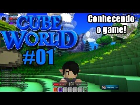 Cube World #01 - Conhecendo o game que é um Minecraft RPG! E mataram meus amigos!
