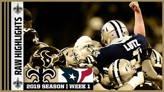 Saints vs Texans Raw On-Field Highlights | 2019 NFL Week 1 | New Orleans Saints