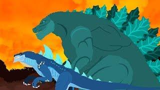 Godzilla vs Zilla vs Muto - Best episodes   Dinosaurs cartoons battles compilation 2018 - DinoMania