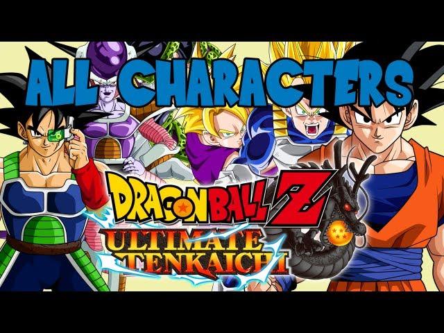 Dragon Ball Z Ultimate Tenkaichi - All Characters In Select Screen 【HD】