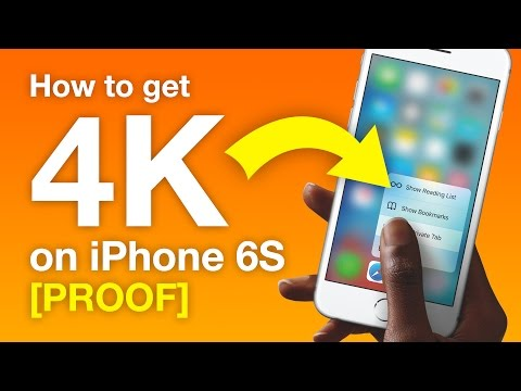 iPhone 6 - 4K (3840x2160) Video Playback PROOF (50mbps & 100mbps)