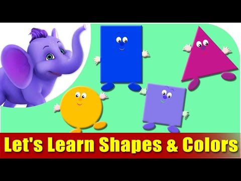 Let s Learn Shapes & Colors - Preschool Learning