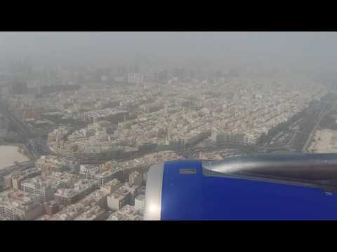 Indigo airlines landing in dubai  video by muddasir ahamed