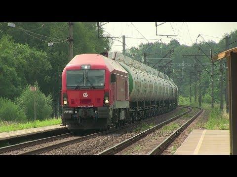 Тепловоз ER20-002 на о.п. Каугонис / ER20-002 at Kaugonys stop