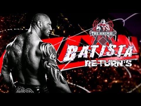 WWE Raw 2014 Batista Return's Save's Daniel Bryan From The Wyatt Family HD