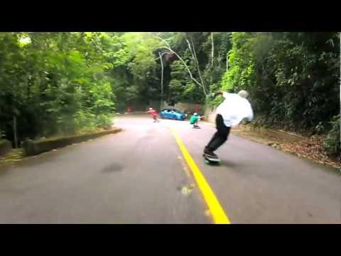 Longboarding: Vista Chinesa - Rio de Janeiro - Car/GoPro Follow Camilo Cespedes&Locals