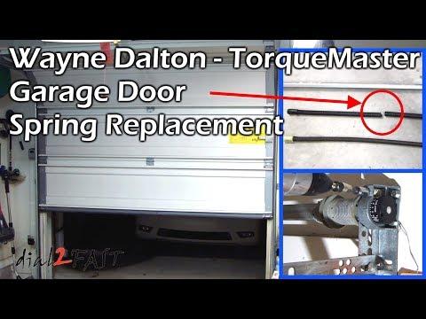Wayne Dalton TorqueMaster Garage Door Spring Replacement
