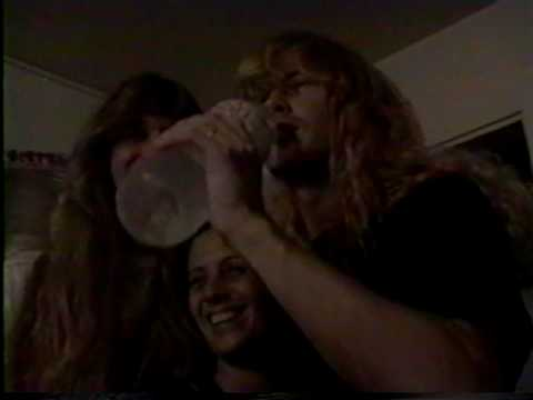 Megadeth - Dave Mustaine's birthday party, Ventura, 1990