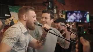 """Conor McGregor & Jimmy Fallon sing """"Whiskey in the Jar"""" in New York"""