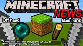 Minecraft 1.9 News: Dual Wielding Explained, 1.8.7 Update, Useless 2nd Sword, Pocket Edition 0.11