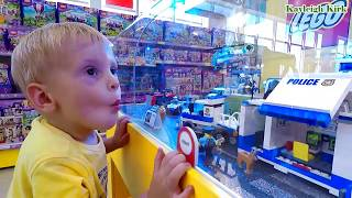 Baby with Toy Police car, Build police station - Kayleigh Kirk