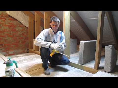 """Теплоизоляция потолка  дома при использовании полистиролбетонных плит """"Бережливый"""""""