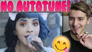 Melanie Martinez REAL VOICE (WITHOUT AUTO-TUNE) Reaction