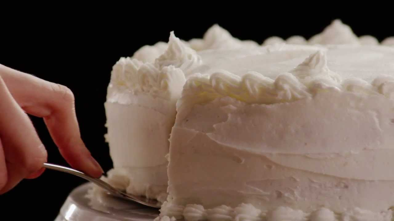 Gluffy White Cake Recipe