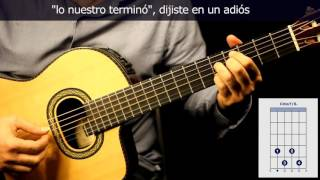 "Como tocar ""El último café"" en guitarra/How to play ""El último café"" on guitar"