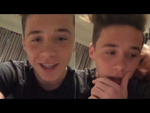 Brooklyn Beckham Is Embarrassed By His Dad As He Celebrates One Million Instagram Followers