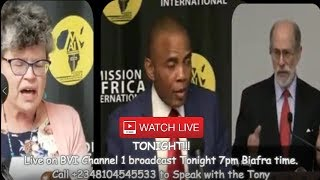 Live Broadcast: Bringing Down Nigeria Caliphate With Tony Nnadi & World Powers Behind Him.