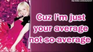 V. Rose - Not So Average (Lyrics On Screen Video HD) New Teen Pop/ Hip-hop 2011
